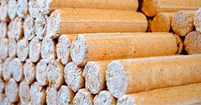 Wood fuel briquettes